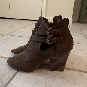 Taupe Open Toe Bootie